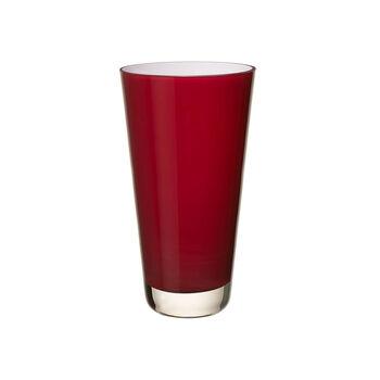 Verso Vase small deep cherry 250mm