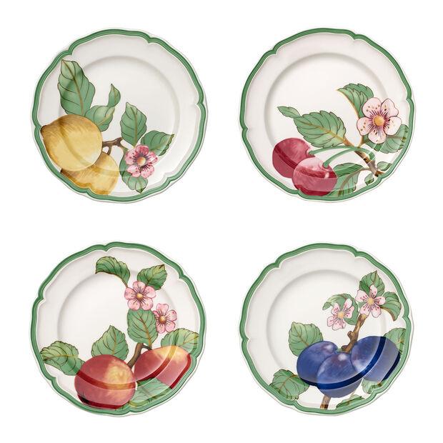 French Garden Modern Fruits dinner plate 4-piece set, , large