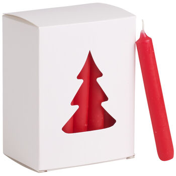 Essentials Candles Xmas candle red Set of 24 8x10,5x5,5cm