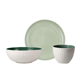 like.by Villeroy & Boch it's my match mineral Single breakfast set, 3 pcs