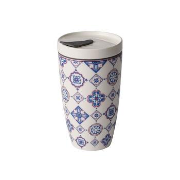 Modern Dining To Go Indigo travel coffee mug