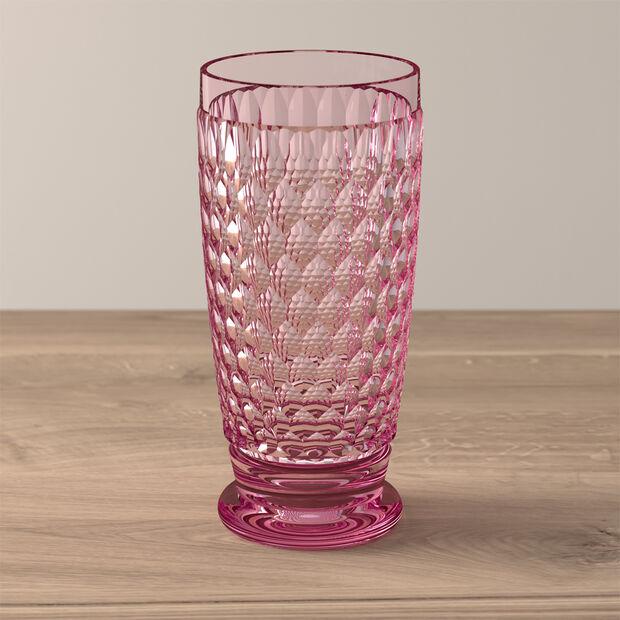 Boston Coloured Highball glass Pink, , large