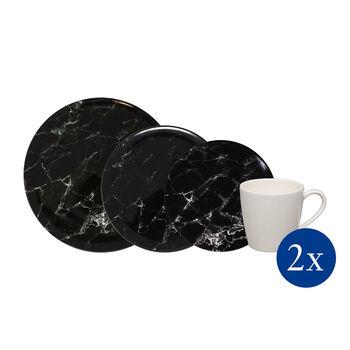 Marmory combination set Black, black, 8 pieces
