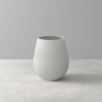 Manufacture Collier blanc Vase Carré small 12,5x12,5x14cm
