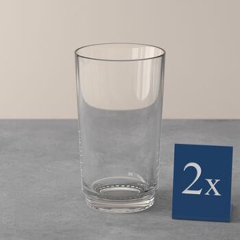 like.by Villeroy & Boch it's my match long drink glass set, clear, 8 x 14 cm, 2 pieces
