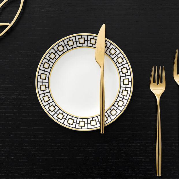 MetroChic bread plate, white/black/gold, , large