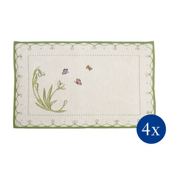 Colourful Spring Gobelin placemat Snowdrop, 32 x 48 cm, 4 pieces