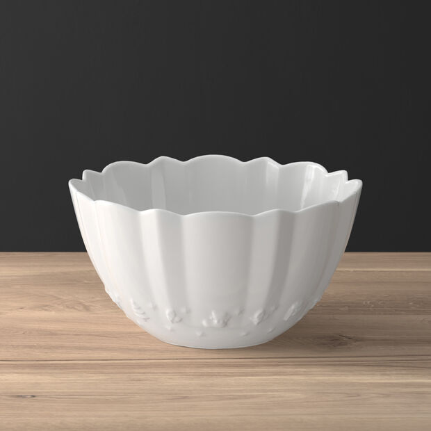 Toy's Delight Royal Classic round bowl, white, 2.87 l, 24 x 24 x 12.7 cm, , large
