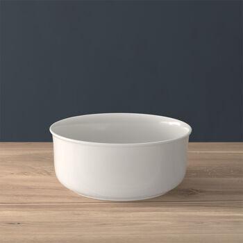 Twist White round bowl