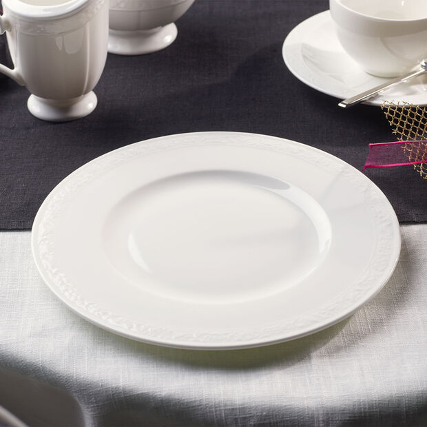 White Pearl breakfast plate, , large