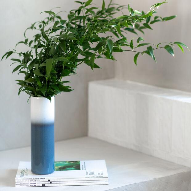 Lave Home cylinder vase, 7.5 x 7.5 x 25 cm, Bleu, , large