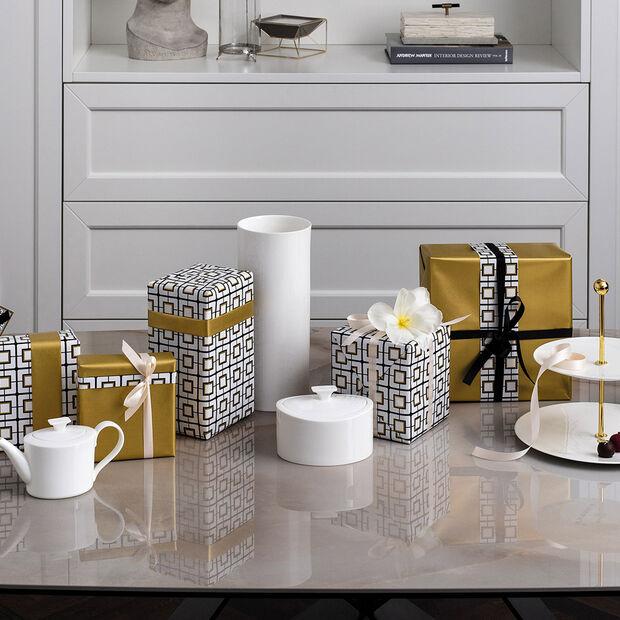 MetroChic blanc Gifts Porcelain box 16x13x10cm, , large