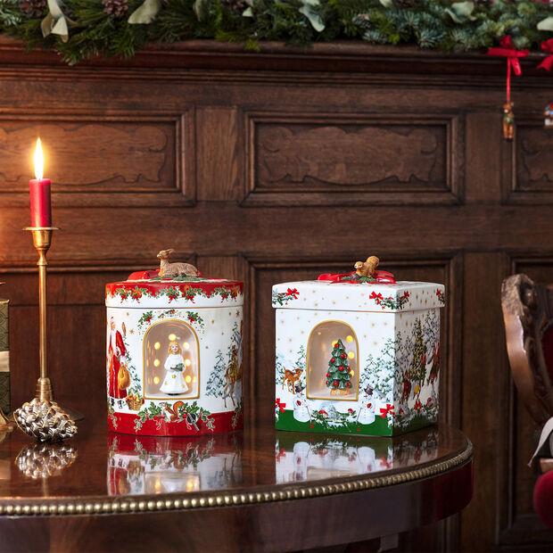 Christmas Toys large round gift box angel, 17 x 17 x 21.5 cm, , large