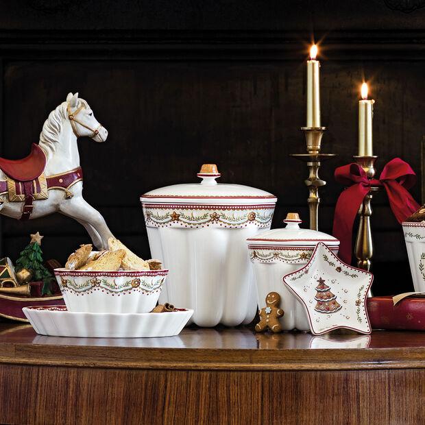 Winter Bakery Delight jar Bundt cake gingerbread, red/multicoloured, 19 x 19 x 20.5 cm, 2.3 l, , large
