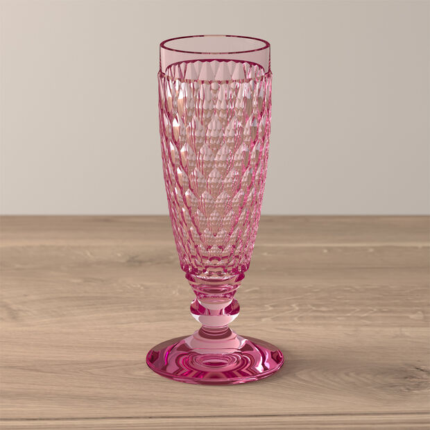 Boston Coloured Champagne glass Pink, , large
