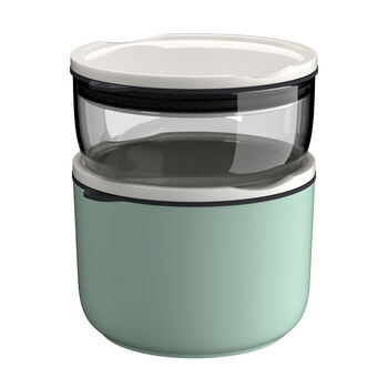 ToGo&ToStay lunch box set, 2 pieces, glass, grey/mint green