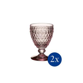 Boston coloured White wine goblet rose Set 2 pcs