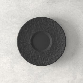 Manufacture Rock saucer, black/grey, 15.5 x 15.5 x 2 cm