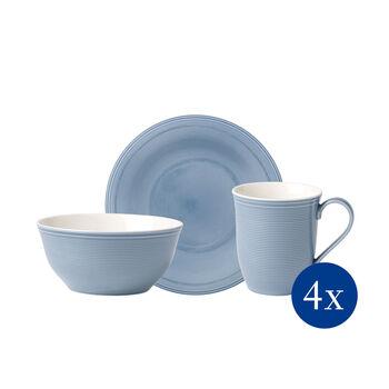 Color Loop Horizon breakfast set, sky blue, 12 pieces