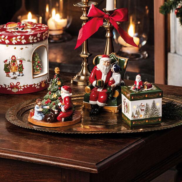 Christmas Toy's Santa in armchair, multicoloured, 10 x 10 x 15 cm, , large