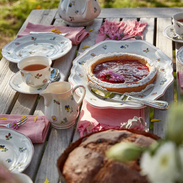 Petite Fleur cappuccino cup saucer, , large