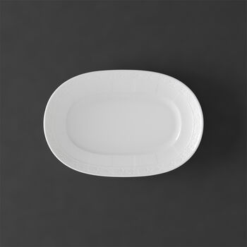 White Pearl Pickle Dish/Saucer sauceboat 22cm