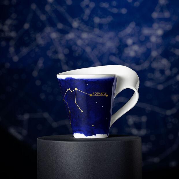 NewWave Stars mug Aquarius, 300 ml, blue/white, , large