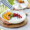 Colourful Spring large salad bowl, 5.2 l, white/green, , large