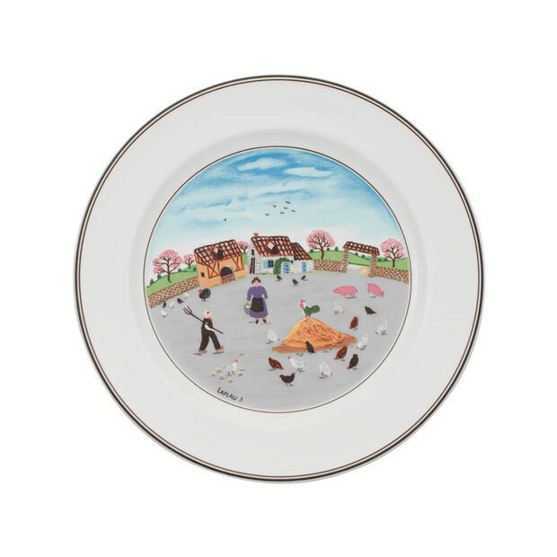 Design Naif dinner plate Poultry farm, , large