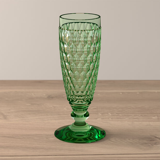 Boston Coloured Champagne glass Green, , large