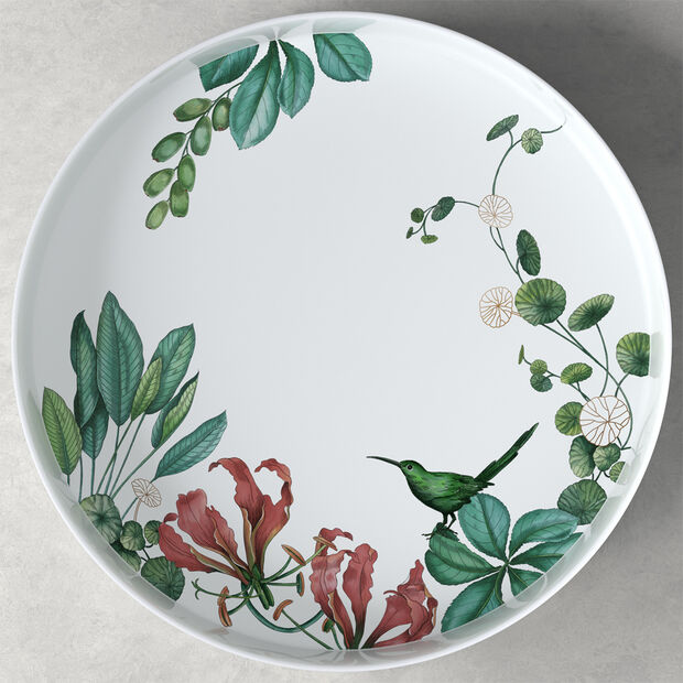 Avarua Gifts serving/decorative bowl, 33 cm, white/multicoloured, , large