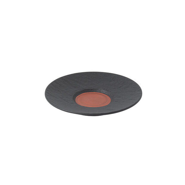 Manufacture Rock Glow coffee cup saucer, copper/black, 15.5 x 15.5 x 2 cm, , large
