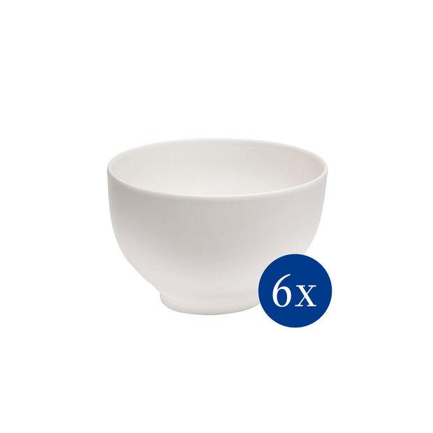 Basic White bowl set, 6 pieces EC, , large