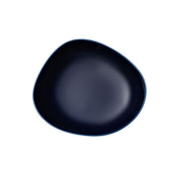 Organic Dark Blue deep plate, dark blue, 20 cm