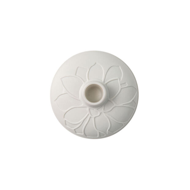 it's my home candle holder Socculent, 12 x 7 cm, white, , large