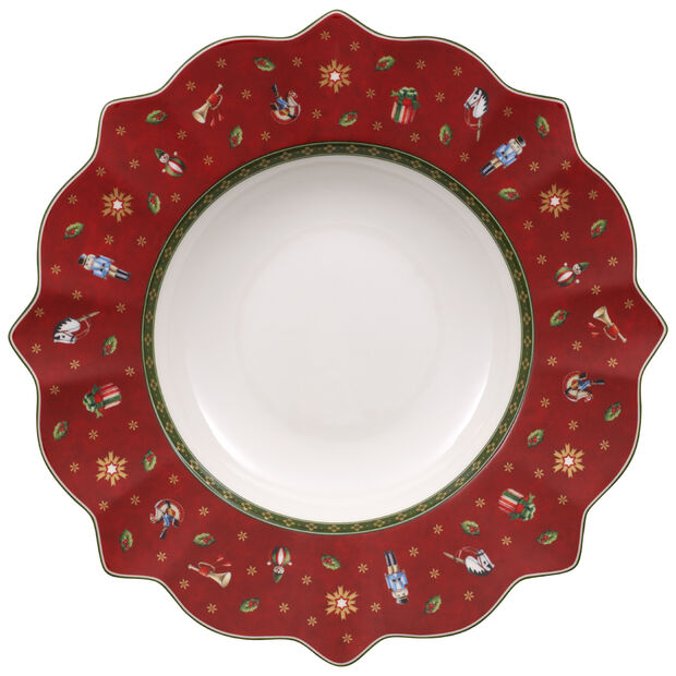 Toy's Delight red soup plate, , large