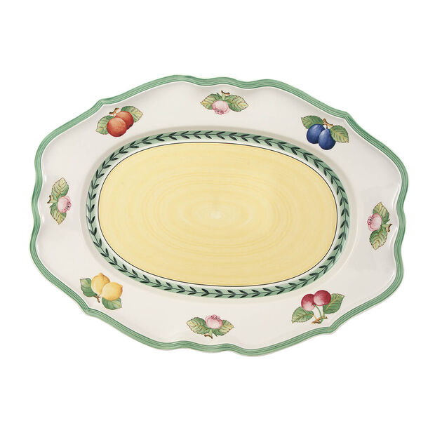 French Garden Fleurence oval plate 44 cm, , large