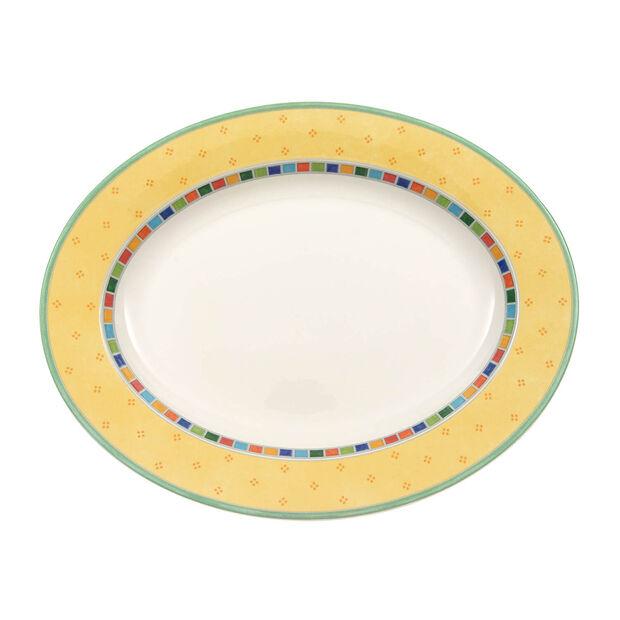 Twist Alea Limone oval plate 34 cm, , large