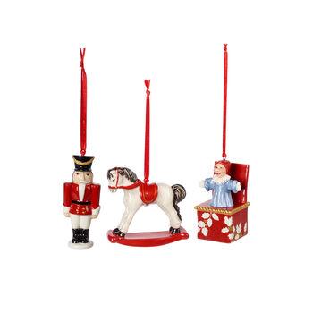 Nostalgic Ornaments ornament set toys, multicoloured, 3 pieces, 9.5 cm