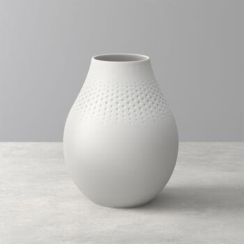 Manufacture Collier blanc Vase Perle tall 16x16x20cm