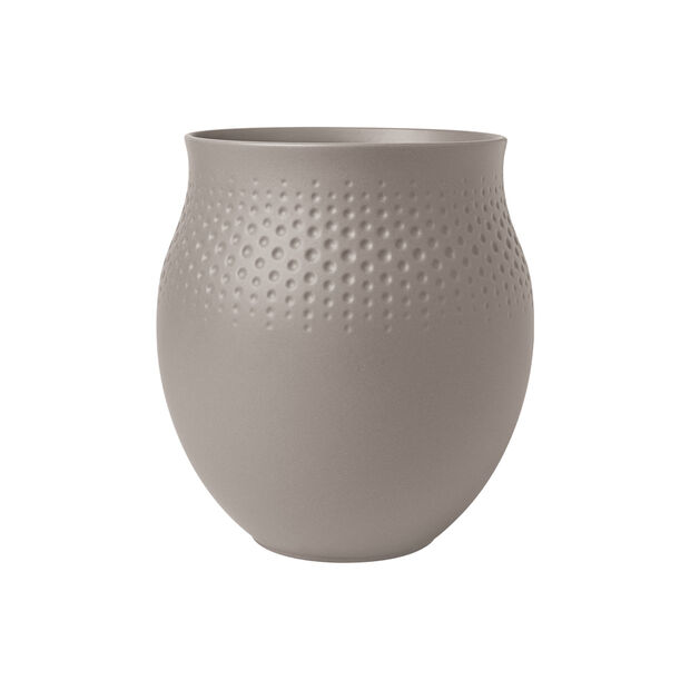 Manufacture Collier vase, 16.5 x 18 cm, Perle, Taupe, , large