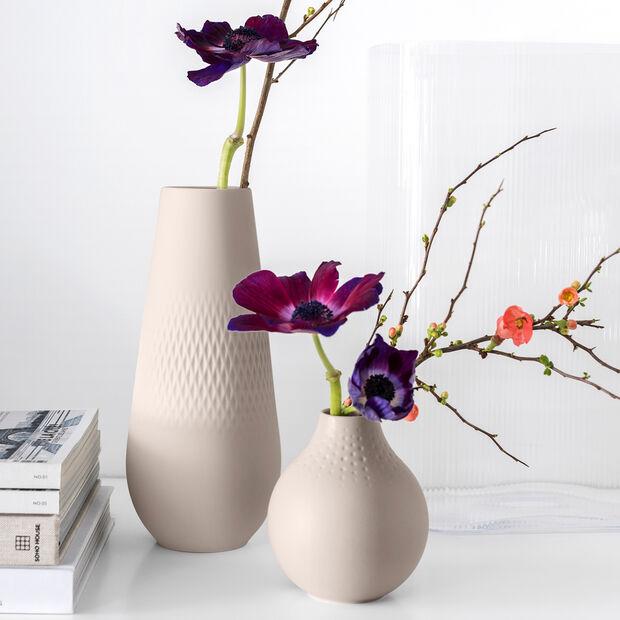 Manufacture Collier vase, 11.5 x 26 cm, Carré, Beige, , large