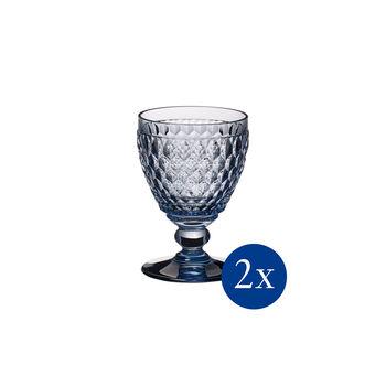 Boston coloured White wine goblet blue Set 2 pcs