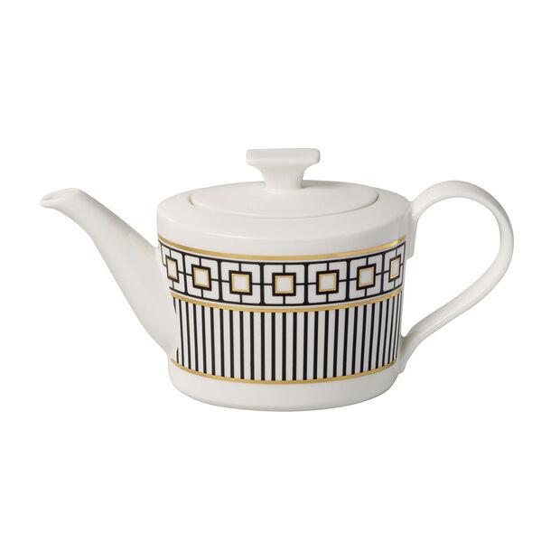 MetroChic coffee/teapot, 1.2 l, white/black/gold, , large