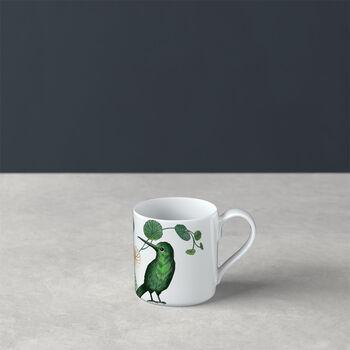 Avarua mocha/espresso cup, 80 ml, white/multicoloured