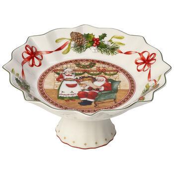 Toy's Fantasy Santa's home footed bowl