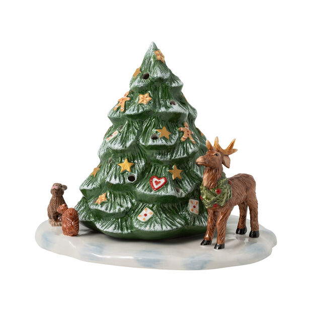 Christmas Toys Christmas tree with forest animals, 23 x 17 x 17 cm, , large