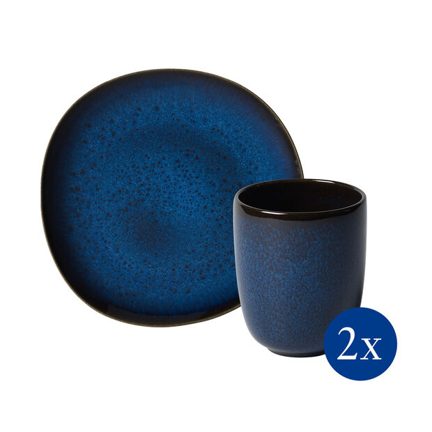 Lave breakfast set, 4 pieces, for 2 people, blue, , large