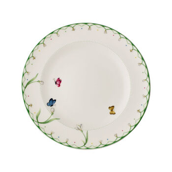 Colourful Spring dinner plate