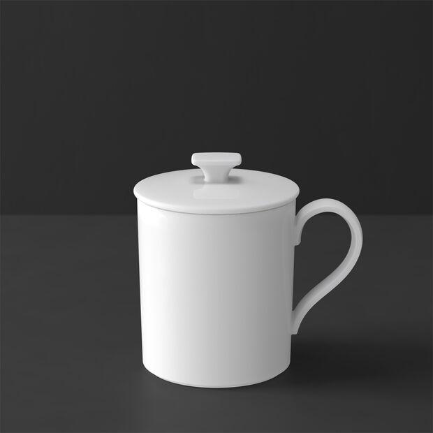 MetroChic blanc Gifts Mug with lid 11,5x8,5x11cm, , large